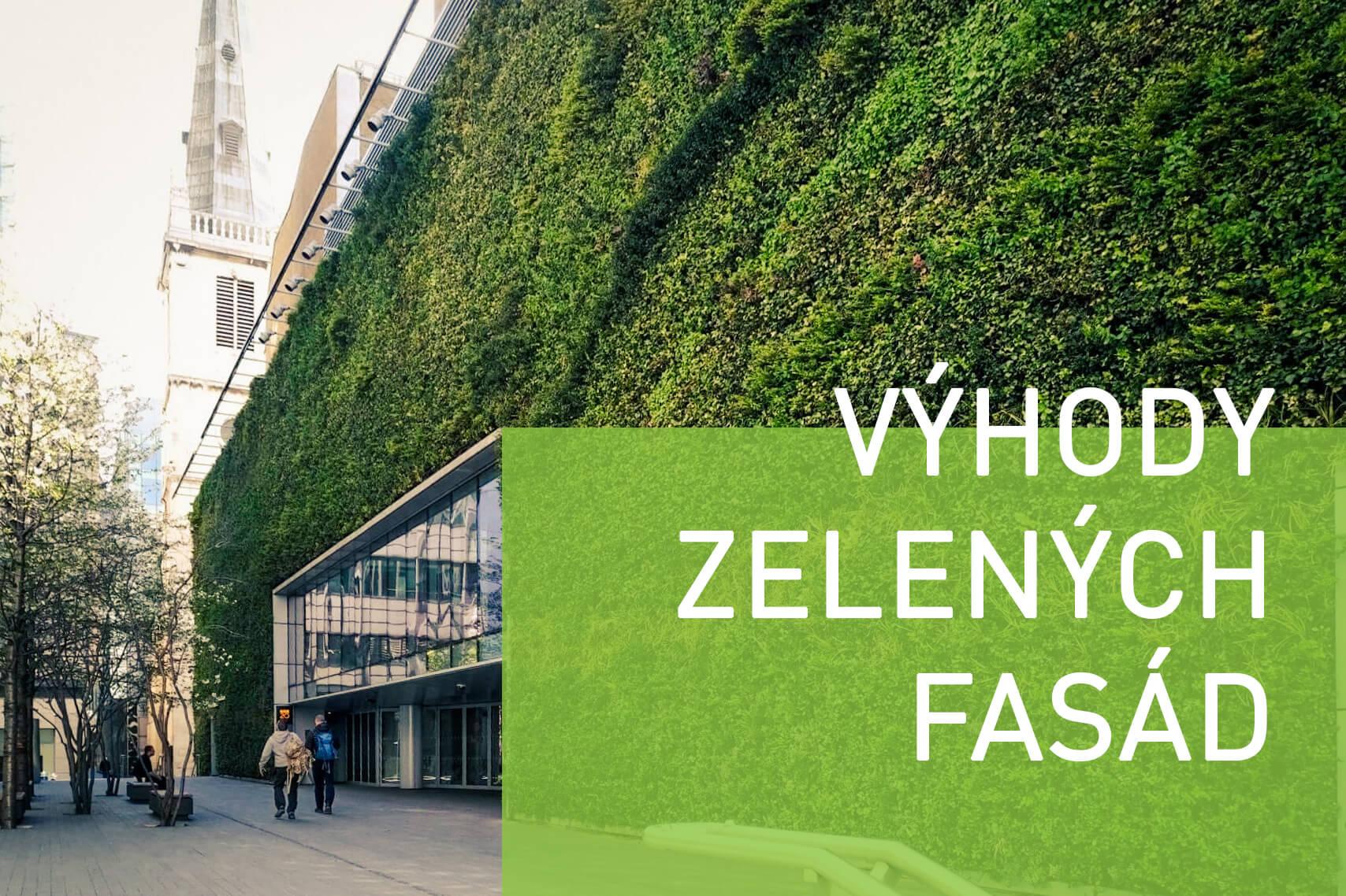 Jaké výhody mají jednotlivé zelené fasády?