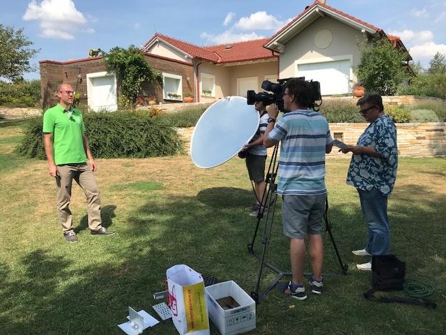 Televizní reportáž o našich zelených střechách