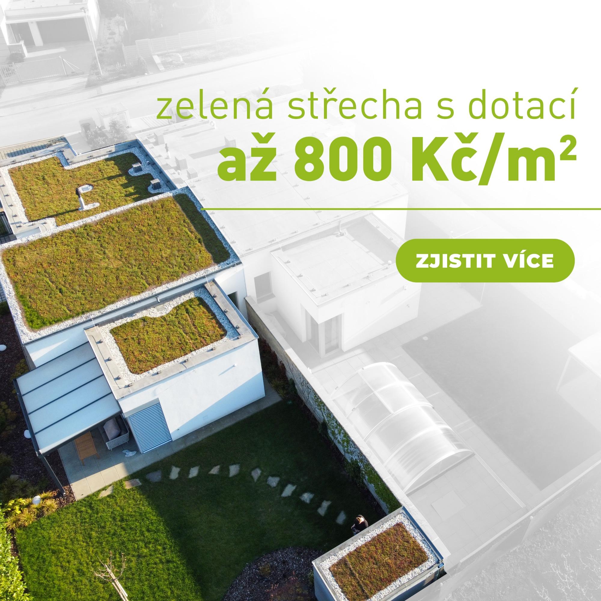 Dotace na zelené střechy!