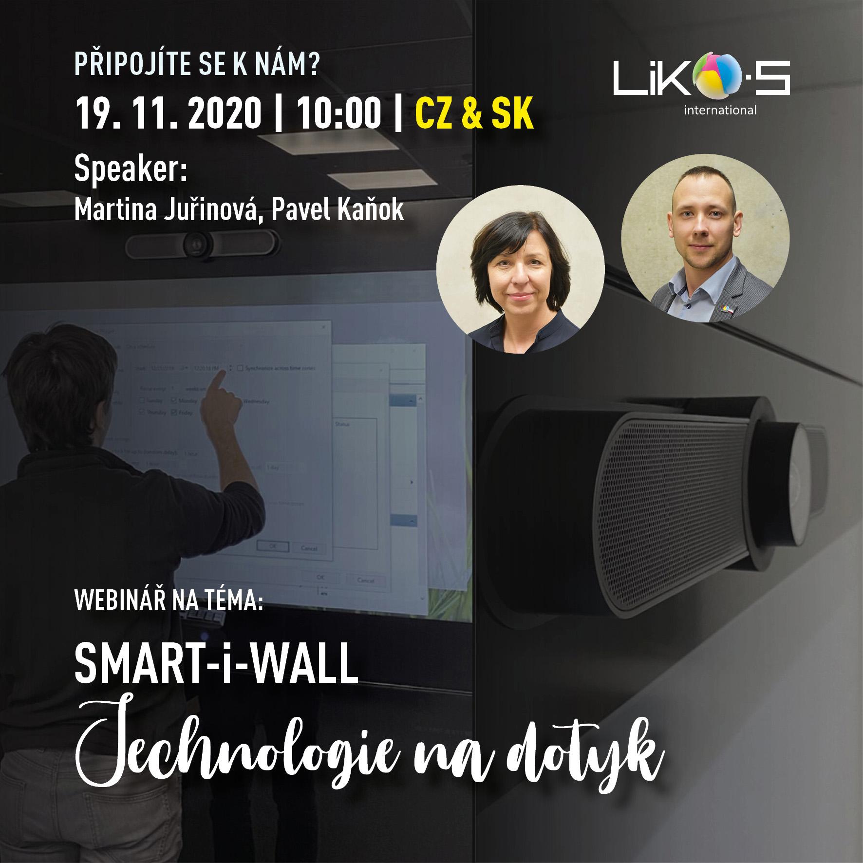 Webinář | SMART-i-WALL – Technologie na dotyk
